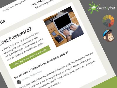 Antin Lost Password Free MailChimp Newsletter Template
