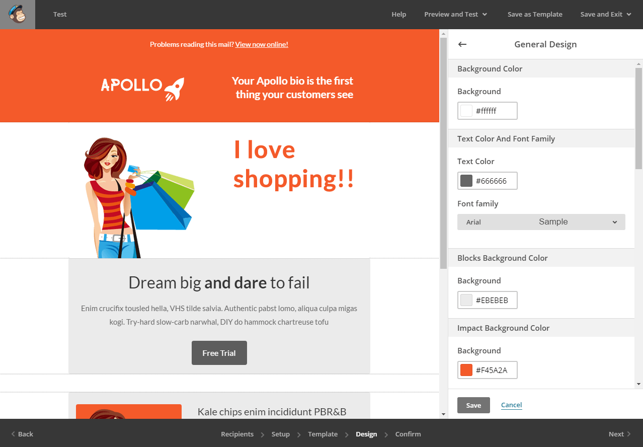 Ecommerce Free MailChimp Template