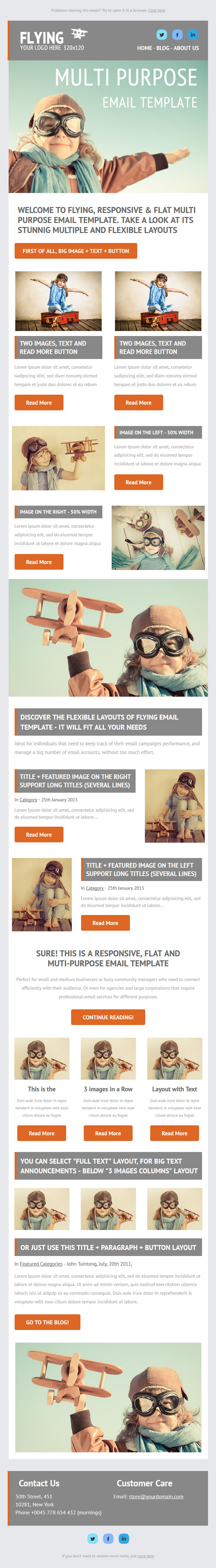 Startup Responsive MailChimp Theme