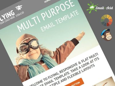 Flying Email MailChimp Theme