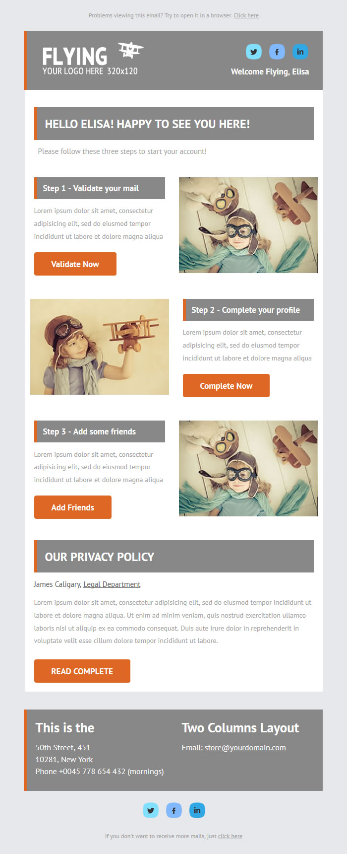 Startup Free Newsletter Theme