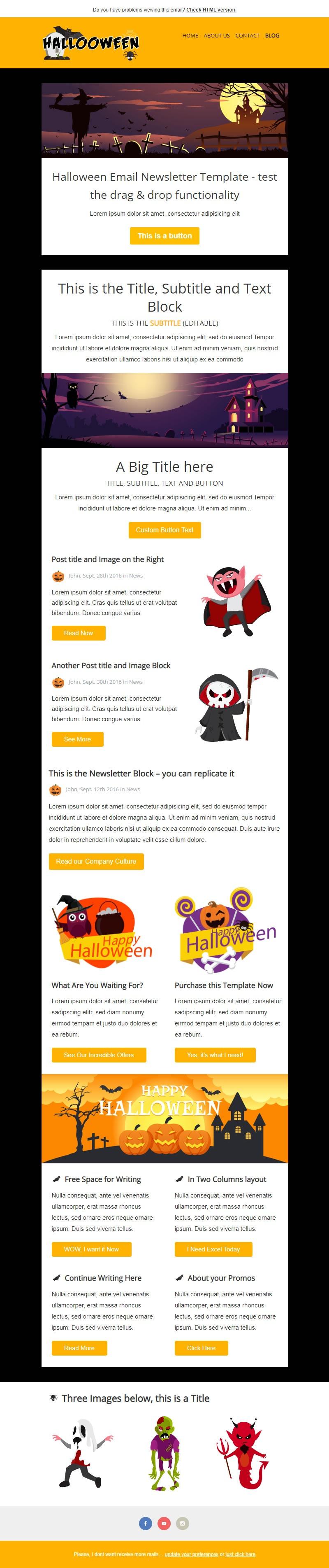 Creative Responsive Newsletter Template