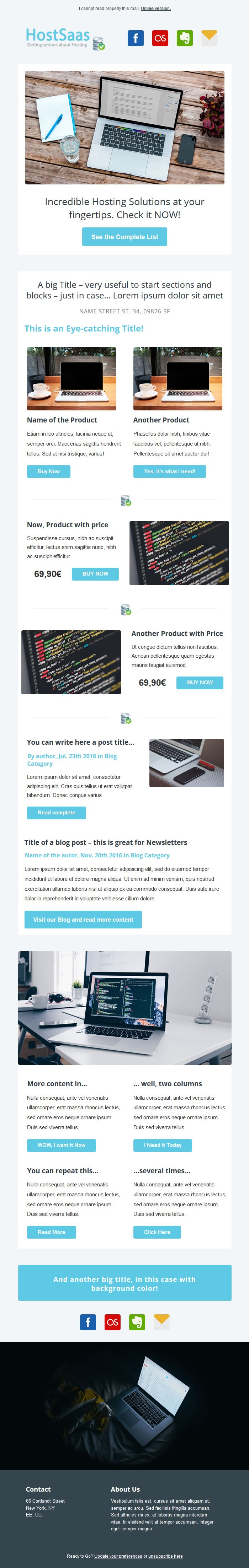 Business Email MailChimp Template