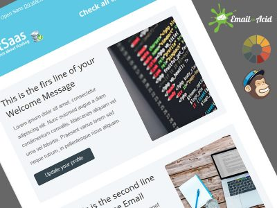 HostSaas Welcome Message Free Newsletter Theme