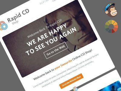 RapidCD Free MailChimp Newsletter Template