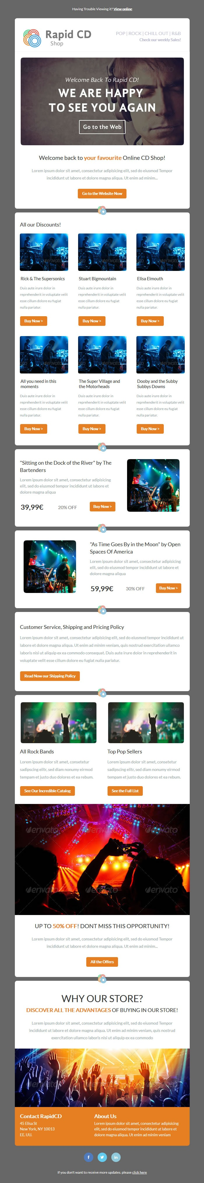 Simple Email Newsletter Theme