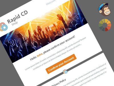 RapidCD Welcome Message Master MailChimp Template