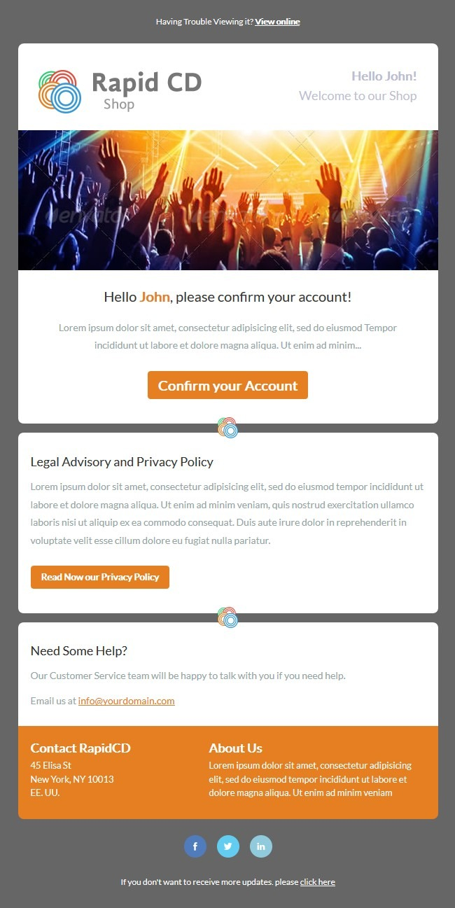 Simple Free Newsletter Template