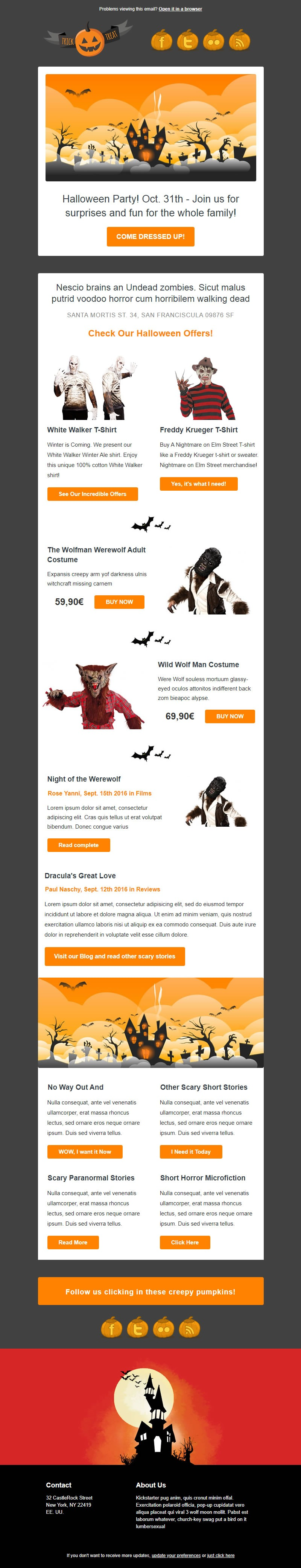 Creative Email Newsletter Theme