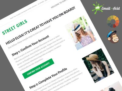 StreetGirls Fashion Welcome Message Basic MailChimp Template
