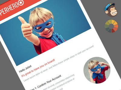 Superheroo Welcome Message MailChimp Template