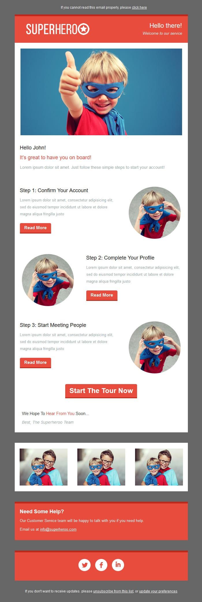Startup Master MailChimp Newsletter Template