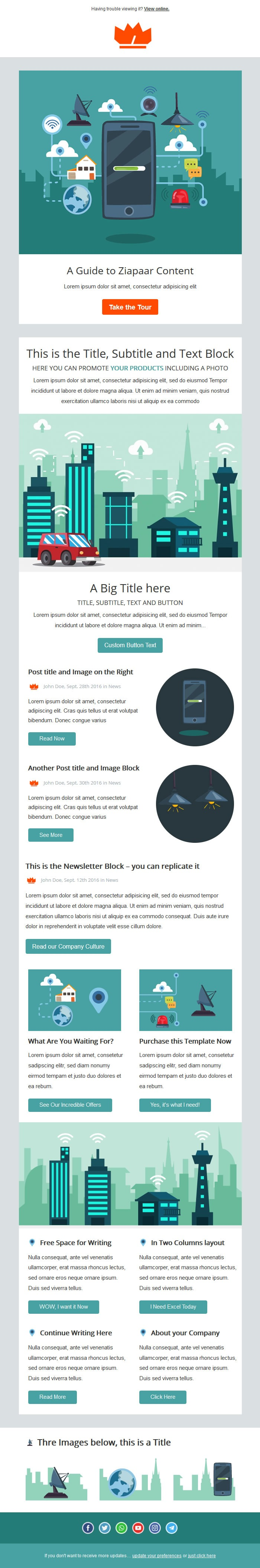 Free MailChimp Email Template