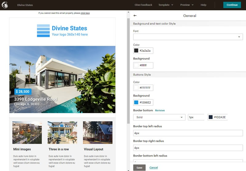 Real State Email MailChimp Template